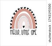 hello little one  rainbows baby ...   Shutterstock .eps vector #1743195500