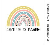 anything is possible rainbows... | Shutterstock .eps vector #1743195506