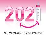 concept of pink announcement... | Shutterstock .eps vector #1743196043