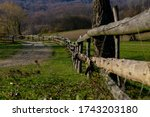 Old Wooden Fence On The Edge Of ...