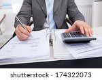close up of a businessman... | Shutterstock . vector #174322073
