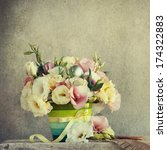 eustoma flowers with easter eggs | Shutterstock . vector #174322883