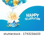 celebrating of 14 th years... | Shutterstock .eps vector #1743236633