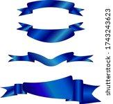 four types of blue ribbon   Shutterstock .eps vector #1743243623
