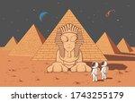 astronaut found another alien... | Shutterstock .eps vector #1743255179