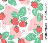 juicy strawberry seamless... | Shutterstock .eps vector #1743268670
