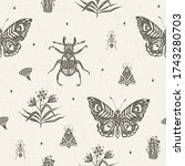 seamless pattern with...   Shutterstock .eps vector #1743280703
