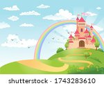 fairytale landscape  the road... | Shutterstock .eps vector #1743283610
