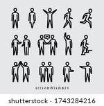 people minimalist vector line...   Shutterstock .eps vector #1743284216