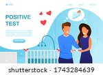 happy young couple gets a... | Shutterstock .eps vector #1743284639