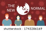 the new normal on people... | Shutterstock .eps vector #1743286169