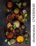 Set Of Spices And Herbs For...