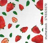 Strawberry Background. Flying...