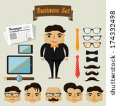 hipster character elements for... | Shutterstock .eps vector #174332498