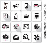 seo icons. web black vector...