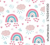 seamless pattern with cloud and ...   Shutterstock .eps vector #1743345530
