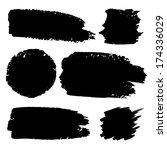 set of hand drawn grunge... | Shutterstock . vector #174336029