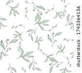 vector tropical leave wallpaper....   Shutterstock .eps vector #1743364136