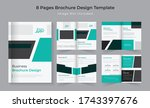 8 pages vertical company...   Shutterstock .eps vector #1743397676