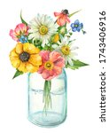 Flowers Watercolor Painting ...