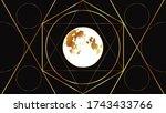 flat image of the full moon on...   Shutterstock .eps vector #1743433766