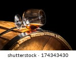 Glass Of Cognac On The Old...