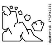 surface landslide icon. outline ... | Shutterstock .eps vector #1743463856