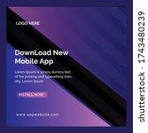 new editable app promotional... | Shutterstock .eps vector #1743480239