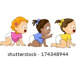 african-american,american,art,asian,babies,black,cartoon,caucasian,children,clip,clipart,crawl,cute,cutout,delighted