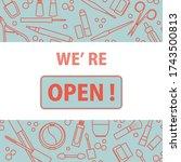 vector illustration reopening...   Shutterstock .eps vector #1743500813