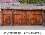 Aged Wooden Rustic Gate In A...