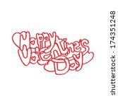 valentine's day funny script... | Shutterstock .eps vector #174351248
