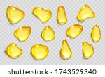 drops of orange juice or oil ...   Shutterstock .eps vector #1743529340
