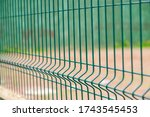 Mesh Fence. Metal Fence Made Of ...