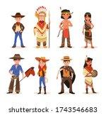 cute little children in native...   Shutterstock .eps vector #1743546683