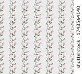 seamless floral pattern of... | Shutterstock .eps vector #1743564140
