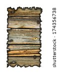 charred wood board isolated on... | Shutterstock . vector #174356738