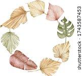 Watercolor Tropical Wreath....