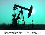 crank balanced beam pumping... | Shutterstock . vector #174359633
