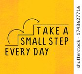 take a small step everyday ... | Shutterstock .eps vector #1743627716
