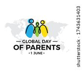 global day of parents. logo... | Shutterstock .eps vector #1743631403