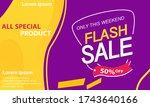 special offer flash sale banner   Shutterstock .eps vector #1743640166