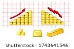 set of golden bar isolated or... | Shutterstock .eps vector #1743641546