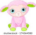 Illustration Of Cute Lamb...