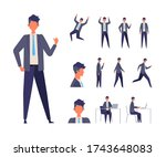 Set Of Man In Different Poses....