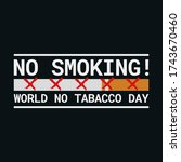 world no tabacco day  may 31....   Shutterstock .eps vector #1743670460