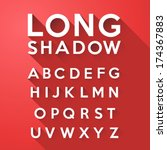 long flat shadow alphabet on... | Shutterstock .eps vector #174367883