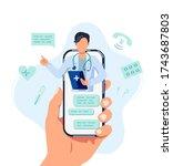 tele medicine  online doctor... | Shutterstock .eps vector #1743687803