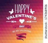 valentine's day poster... | Shutterstock .eps vector #174368906