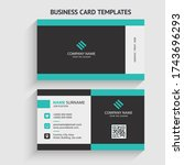 double sided creative  simple ... | Shutterstock .eps vector #1743696293